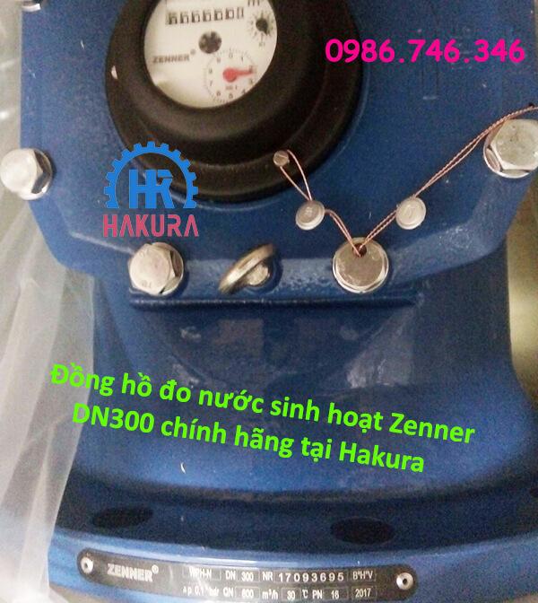 Đồng hồ đo nước sinh hoạt Zenner DN300 chính hãng tại Hakura