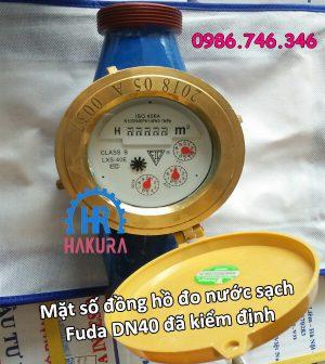 Mặt số đồng hồ đo nước sạch Fuda DN40 đã kiểm định