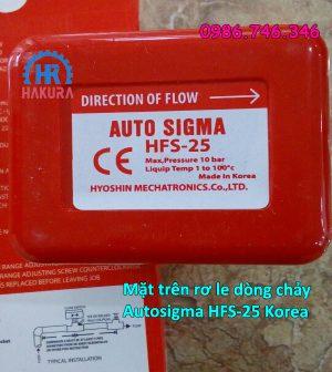 Mặt trên rơ le dòng chảy Autosigma HFS-25 Korea