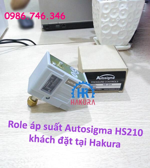 Rơ le áp suất Autosigma HS210 khách đặt tại Hakura