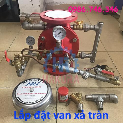 Cách lắp đặt van xả tràn deluge valve - hakura.vn