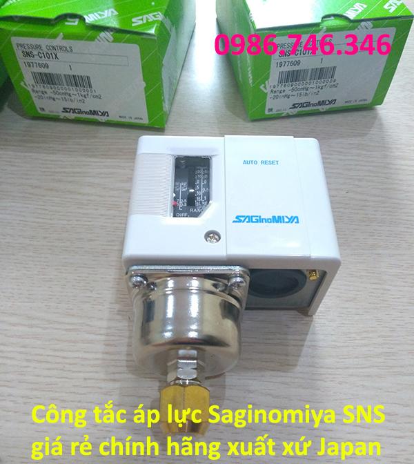 Công tắc áp lực Saginomiya SNS giá rẻ chính hãng xuất xứ Japan - hakura.vn