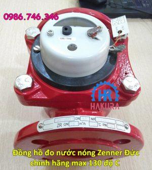 Đồng hồ đo nước nóng Zenner Đức chính hãng, max 130 độ C