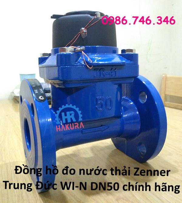 Đồng hồ đo nước thải Zenner Trung Đức WI-N DN50 chính hãng