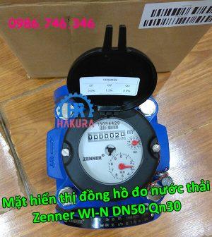 Mặt hiển thị đồng hồ đo nước thải Zenner WI-N DN50 Qn30