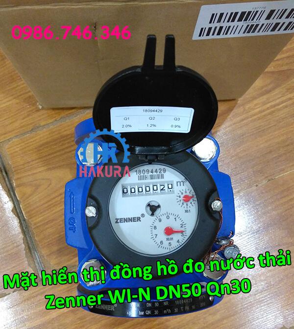 Đồng hồ đo nước thải Zenner WI-N DN50 Qn30