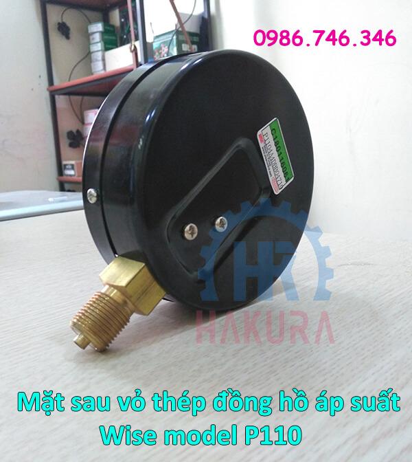 Mặt sau vỏ thép đồng hồ áp suất Wise model p110 - hakura.vn