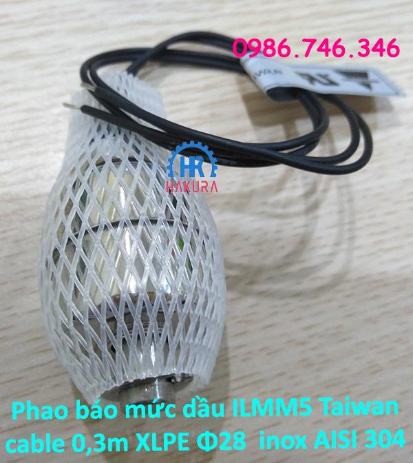 Phao báo mức dầu ILMM5 Taiwan cable 0,3m XLPE Φ28 inox Aisi304