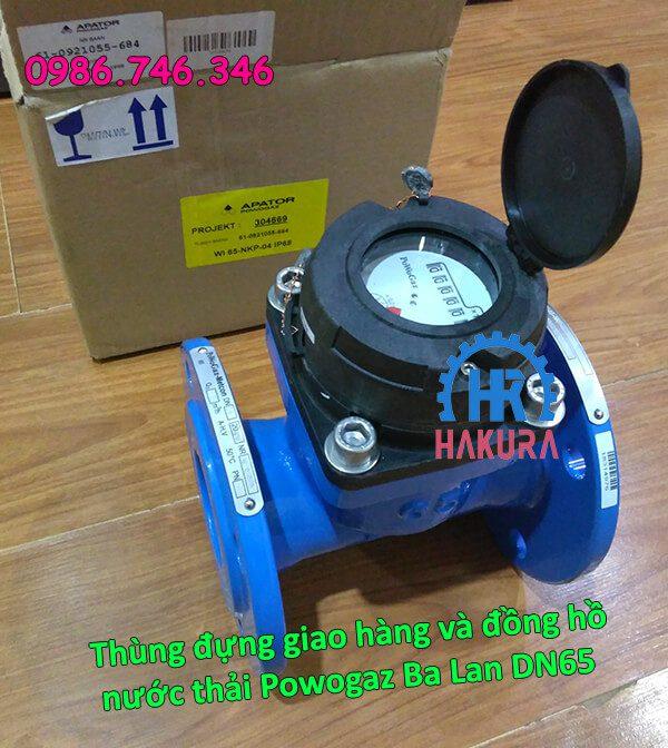 Thùng đựng giao hàng đồng hồ nước thải Powogaz Ba Lan DN65