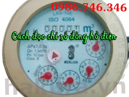 Cách đọc chỉ số đồng hồ điện - hakura.vn