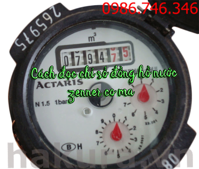 Cách đọc chỉ số đồng hồ nước zenner-coma - hakura.vn