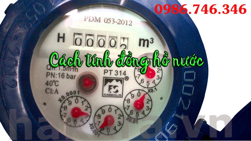 Cách tính đồng hồ nước - hakura.vn
