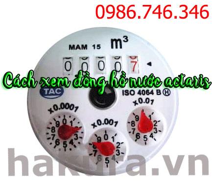 Cách xem đồng hồ  nước actaris - hakura.vn