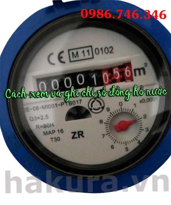Cách xem và ghi chỉ số đồng hồ nước - hakura.vn