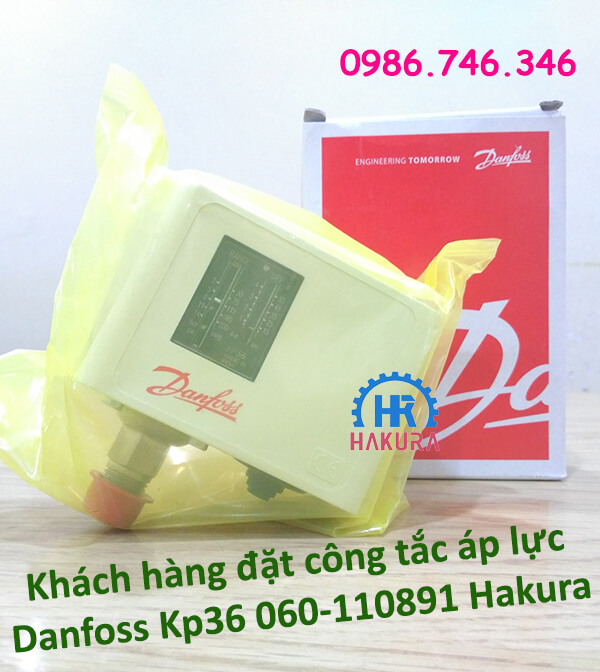 Khách hàng đặt công tắc áp lực Danfoss KP36 060-110891 tại Hakura