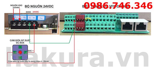 Sơ đồ hướng dẫn kết nối cảm biến áp suất với biến tần - hakura.vn