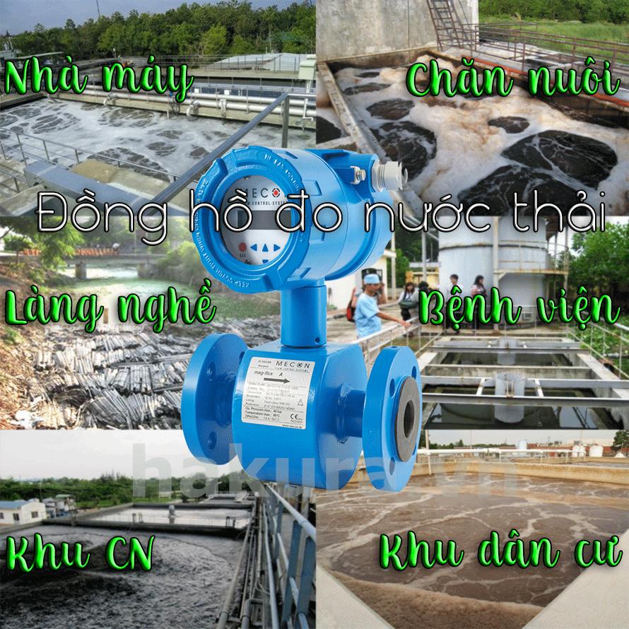 Đồng hồ đo lưu lượng nước thải - Hakura.vn