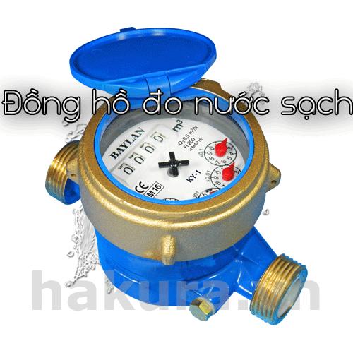 Đồng hồ đo lưu lượng nước sạch - hakura.vn