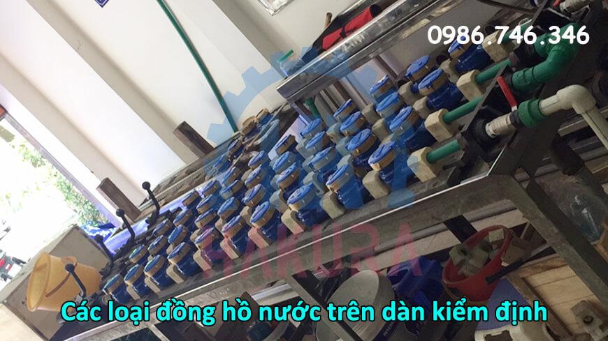 Các loại đồng hồ nước trên dàn kiểm định - hakura.vn
