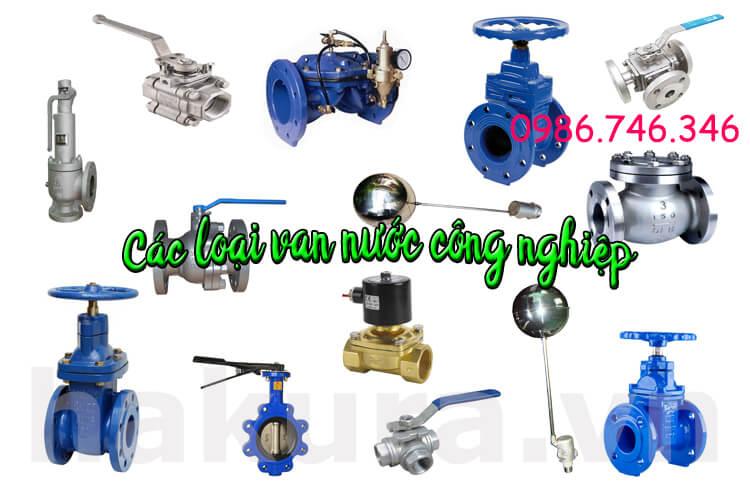 Các vật tư van nước valve công nghiệp - hakura.vn