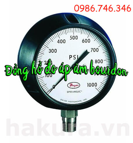 Đồng hồ đo áp âm bourdon - hakura.vn