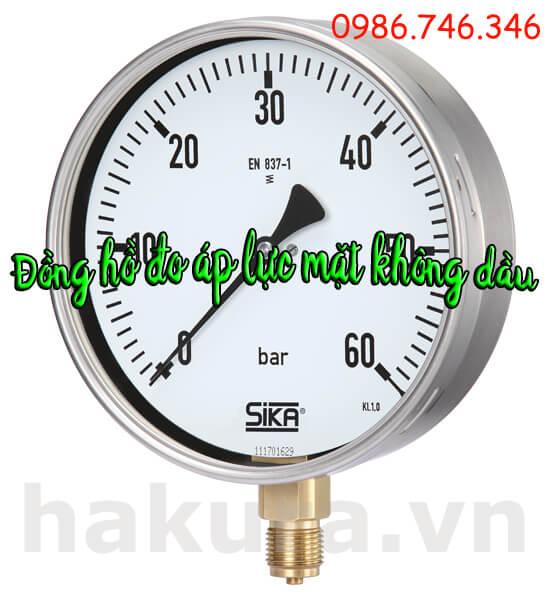 Đồng hồ đo áp lực mặt không dầu - hakura.vn