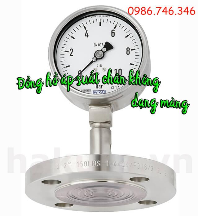 Đồng hồ đo áp suất chân không dạng màng - hakura.vn