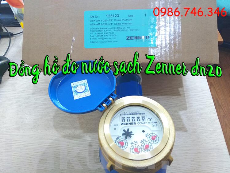 Đồng hồ đo nước sạch Zenner DN20 - hakura.vn
