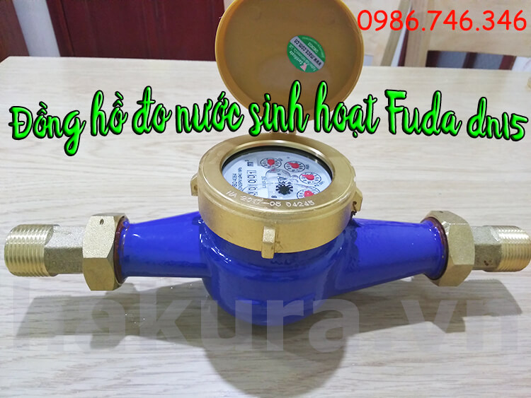Đồng hồ đo nước sinh hoạt Fuda DN15 - hakura.vn
