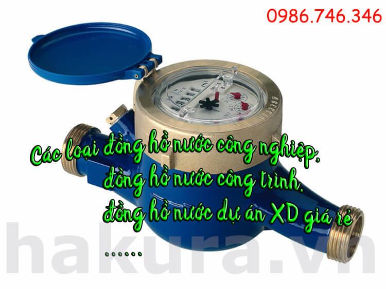 Đồng hồ nước công nghiệp, đồng hồ nước công trình dự án xây dựng giá rẻ - hakura.vn