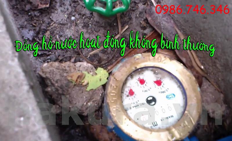 Đồng hồ nước của gia đình bà T. hoạt động không bình thường