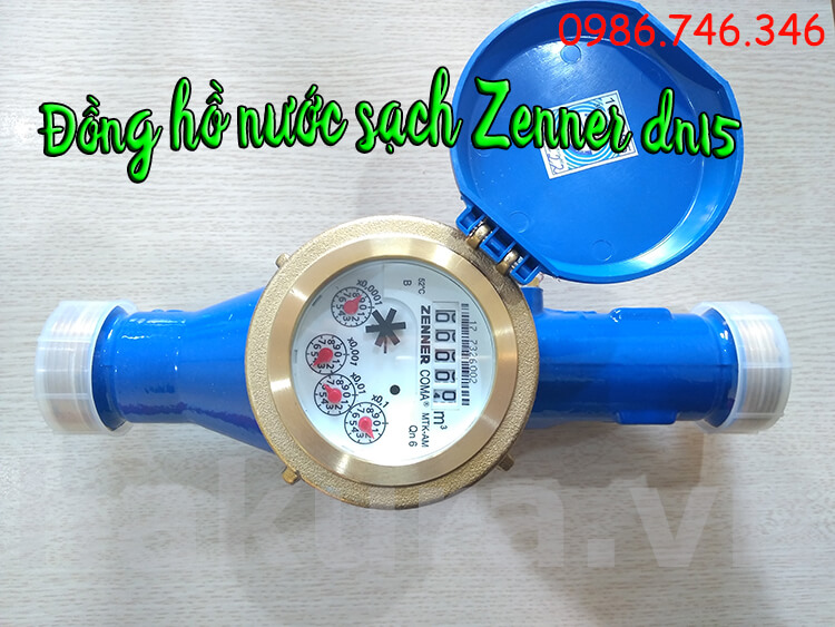 Đồng hồ đo nước sạch Zenner DN15 - hakura.vn
