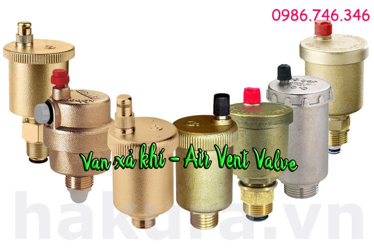Khái niệm van xả khí air vent valve - hakura.vn