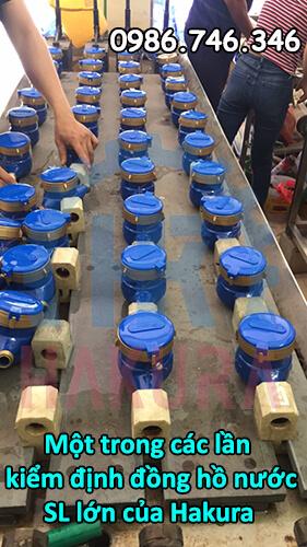 Kiểm định đồng hồ nước số lượng lớn của Hakura