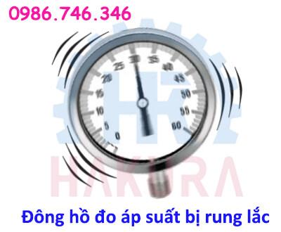 Đồng hồ đo áp suất bị rung lắc - Hakura.vn