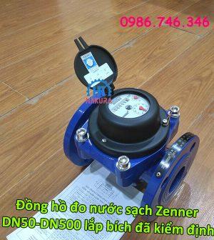 Đồng hồ đo nước sạch Zenner DN50-DN500 lắp bích đã kiểm định, giá rẻ