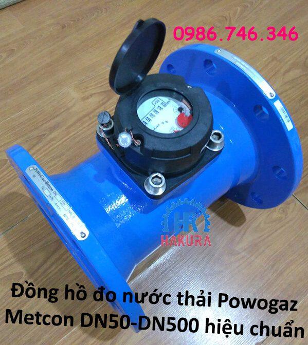 Đồng hồ đo nước thải Powogaz-Metcon DN50-DN500 đã đo hiệu chuẩn