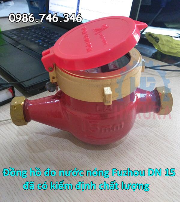 Đồng hồ đo nước nóng Fuzhou DN 15 đã có kiểm định chất lượng - hakura.vn