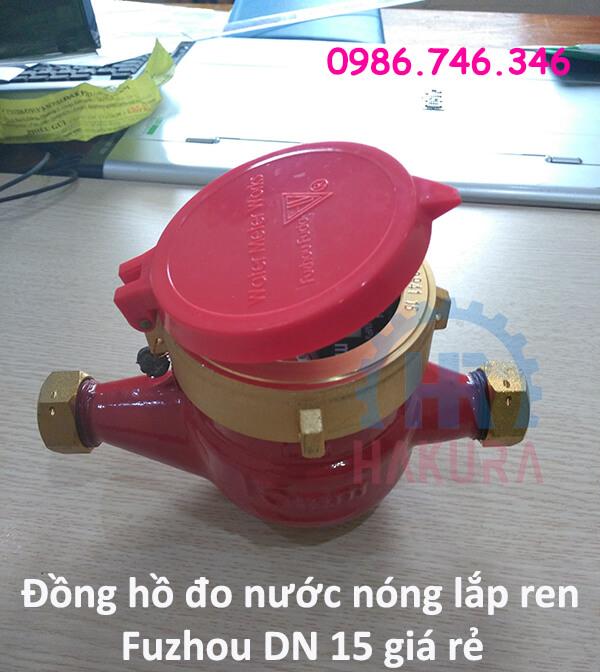 Đồng hồ đo nước nóng lắp ren Fuzhou DN 15 giá rẻ - hakura.vn
