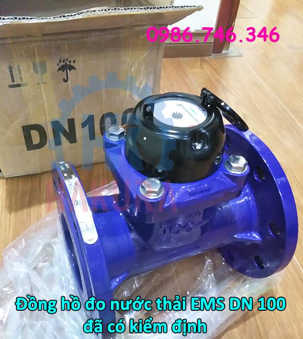 Đồng hồ nước thải EMS DN 100 giá rẻ đã có kiểm định - hakura.vn