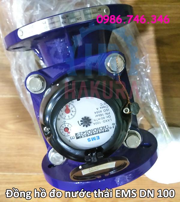 Đồng hồ đo nước thải EMS DN 100 - hakura.vn