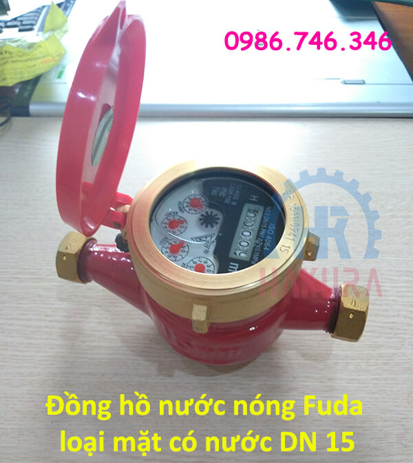 Đồng hồ nước nóng Fuda loại mặt có nước DN 15 - hakura.vn