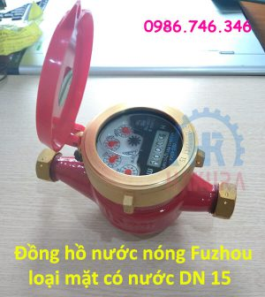 Đồng hồ nước nóng Fuzhou loại mặt có nước DN 15 - hakura.vn