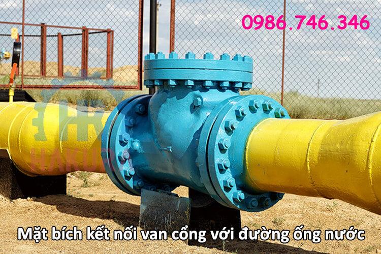Mặt bích là gì? Mặt bích kết nối van công với đường ống nước - hakura.vn