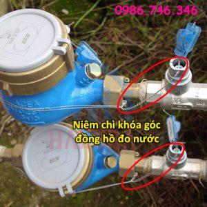Niêm chì khóa góc đồng hồ đo nước - hakura.vn