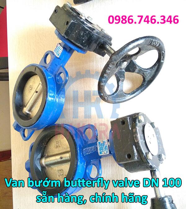 Van bướm butterfly valve DN 100 sẵn hàng chính hãng - hakura.vn