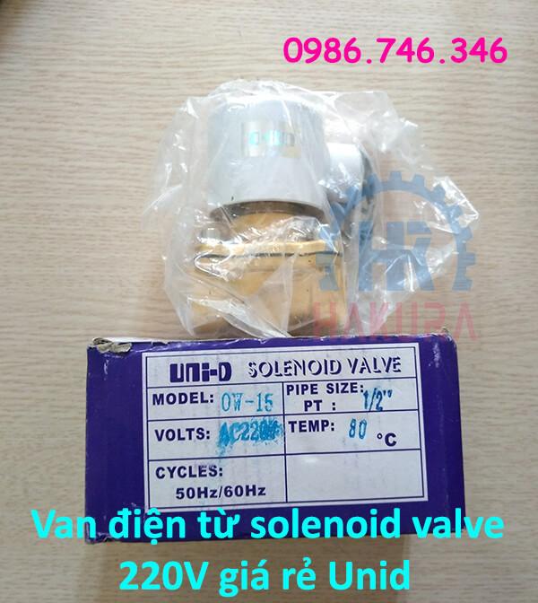Van điện từ solenoid valve 220V giá rẻ Unid - hakura.vn