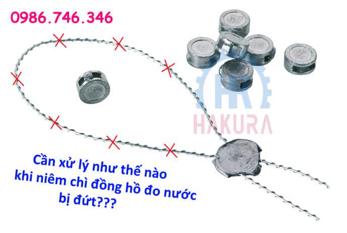 Xử lý như thế nào khi niêm chì đồng hồ đo nước bị đứt - hakura.vn