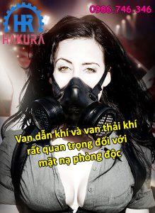Van dẫn khí và van xả khí rất quan trọng đối với mặt nạ chống ngạt khí