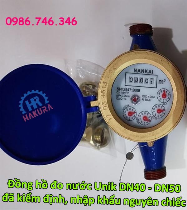 Đồng hồ đo nước Unik DN40-DN50 đã kiểm định nhập khẩu nguyên chiếc